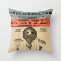 sport Throw Pillows featuring Sport Aeronaute by DAChiemsee