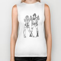 kendrawcandraw Biker Tanks featuring Girl Gang by kendrawcandraw