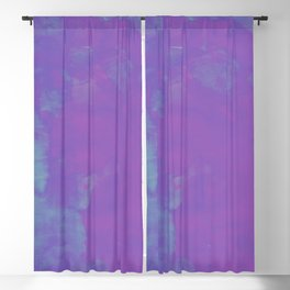 Blu Violet Stain Blackout Curtain
