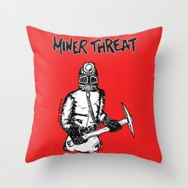 Miner Threat Throw Pillow