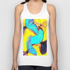 Shiny and colorful butterflies Unisex Tank Top