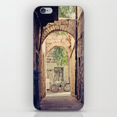 Jerusalem Alley with Bicycle iPhone & iPod Skin