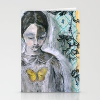 book cover Stationery Cards featuring Vintage Book Cover Girl by Jeanne Oliver