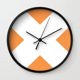X WHITE Wall Clock