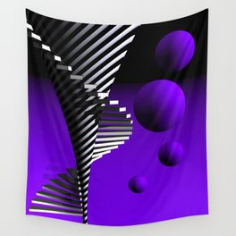 violet geometry -103- Wall Tapestry