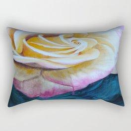 Pink and Yellow Rose painting Rectangular Pillow