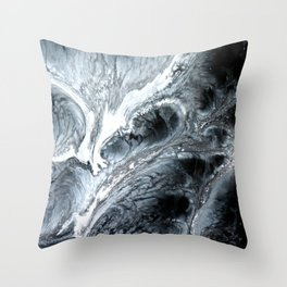 B&W Abstract Cells Throw Pillow