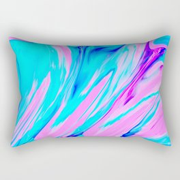 Pink-Blue Liquid Rectangular Pillow