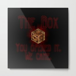 Hellraiser The Box You Opened It Metal Print
