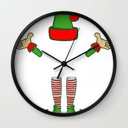 Boss Elf Funny Christmas Winter Profession Gift Wall Clock