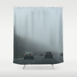 Misty Morning Drive Shower Curtain