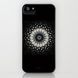 Black Thorn Medalion iPhone Case