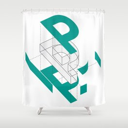 Exploded P Shower Curtain
