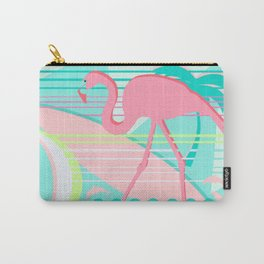 Flamingo Beach Fun Carry-All Pouch