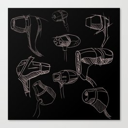 Earbud Pattern Canvas Print