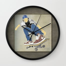 Skateboard 1 Wall Clock