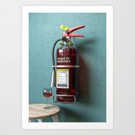 In Case Of Emergency - Wine Extinguisher Art Print