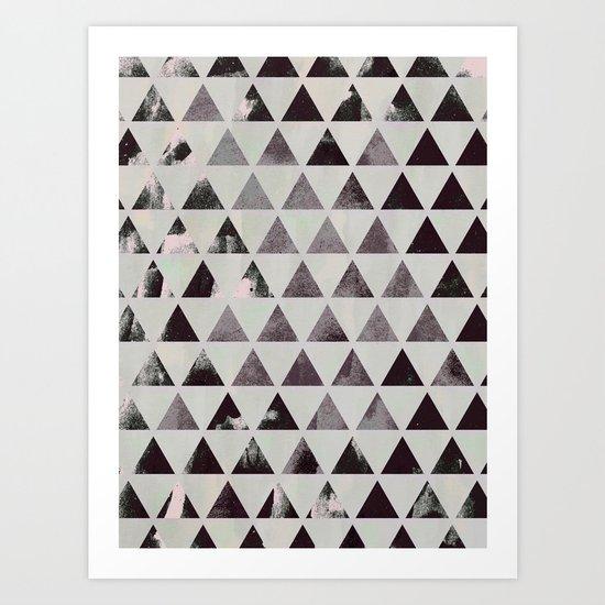 triangles. Art Print