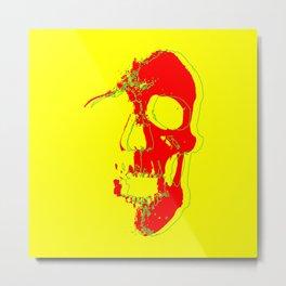 Skull - Red Metal Print