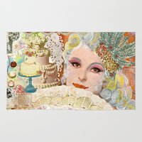 marie antoinette Area & Throw Rugs featuring Marie Antoinette by Jenndalyn