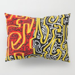 Laberinto red black Pillow Sham