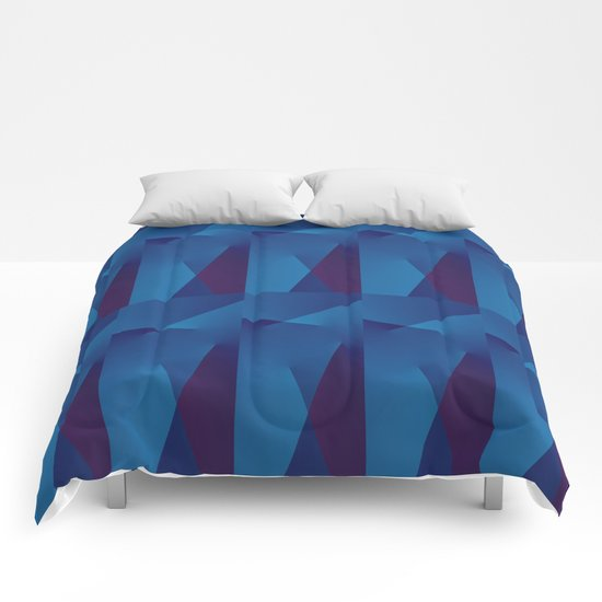 Abstract Geometric QQ Comforters