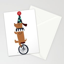 circus dog Stationery Cards