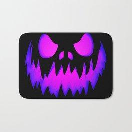 Evil pumpkin purple Bath Mat