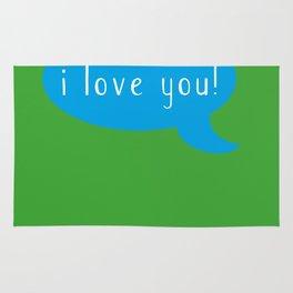 i love you! Rug