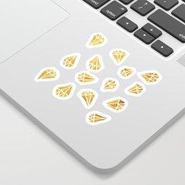 Gold Diamonds Sticker