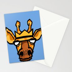 king giraffe Stationery Cards