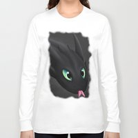 toothless Long Sleeve T-shirts featuring Toothless by Alkraas
