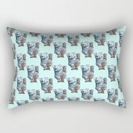 awesome koala pattern Rectangular Pillow