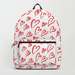Red hearts seamless pattern Backpack