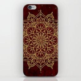 Deep Red & Gold Mandala iPhone Skin
