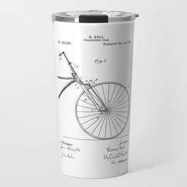 patent art Bell Velocipede fork 1890 Travel Mug