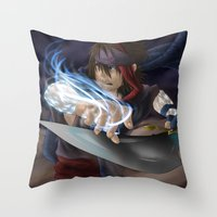 aladdin Throw Pillows featuring Aladdin by Kolshio