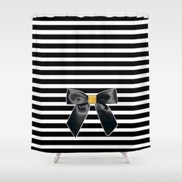 Bow + Stripe Shower Curtain