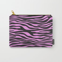 Animal Print, Zebra Stripes - Black Pink Carry-All Pouch