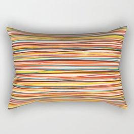 Colored Lines #1 Rectangular Pillow