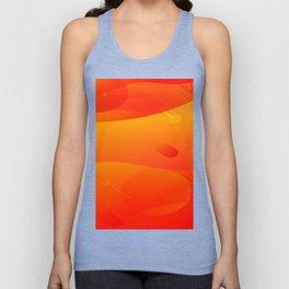 Colorful Orange Abstract Art Design Unisex Tank Top