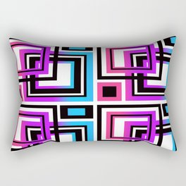 Rainbow Geometric Rectangular Pillow