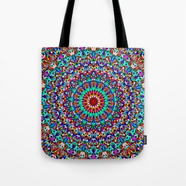 Colorful Life Garden Mandala Tote Bag