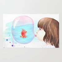 bubblegum Area & Throw Rugs featuring Bubblegum by Vanessa Lim