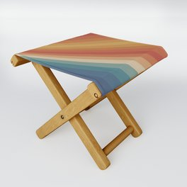 Retro 70s Sunrays Folding Stool