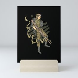 female soldier t-shirt patriotism soldiers ladies outfit Mini Art Print