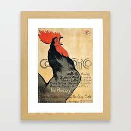 Cocorico by Theophile Steinlen, 1899 Framed Art Print