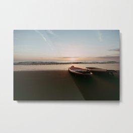 A beach sup | photo print supboards at sunset Metal Print