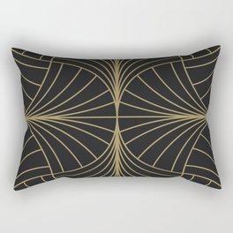 Diamond Series Inter Wave Gold on Charcoal Rectangular Pillow