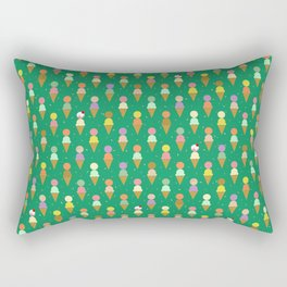 Ice Cream Scoop Green Robayre Rectangular Pillow